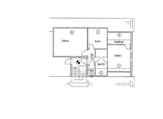 Günstige, gepflegte 2-Zimmer-Dachgeschosswohnung zur Miete in Nordenham