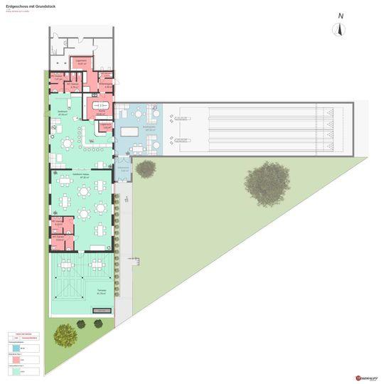 Erdgeschoss mit Grundstück