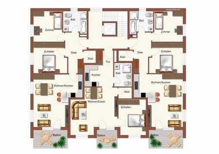 ...Neubau - 3-Zimmer Wohnung im Dachgeschoss mit großem Balkon in ruhiger Lage in Mühldorf.... in Mühldorf am Inn