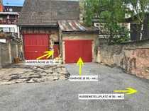 Lagerraum Garage und Stellplatz zu