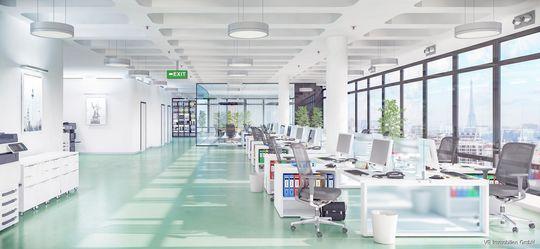 Beispiel Großraumbüro