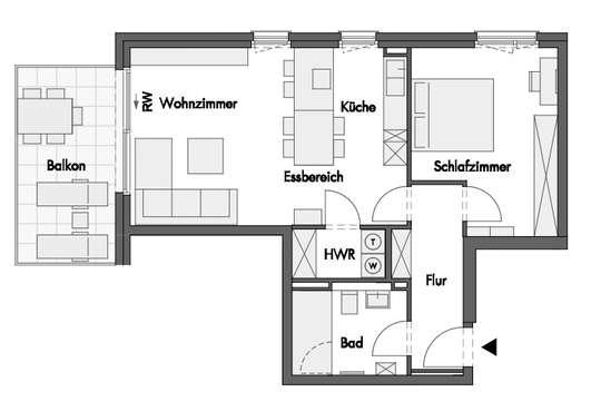 Grundriss Wohnung 27