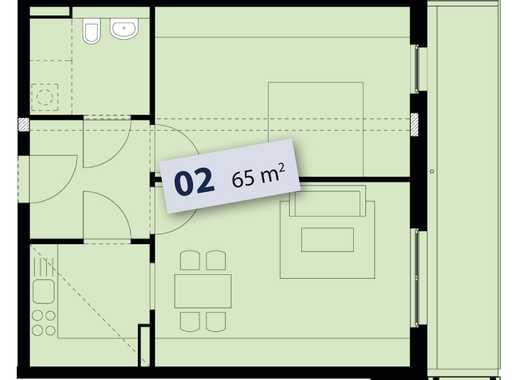 Behindertenfreundliche 2 Zimmerwohnung mit Balkon Nähe Babelsberger Park sucht Nachmieter
