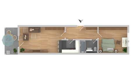 Helle 2-Zimmer Wohnung im Grünen in Unterschleißheim