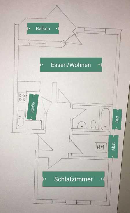 Perfekt geschnittene 2-Raum-Wohnung mit EBK und Balkon in Poing in Poing