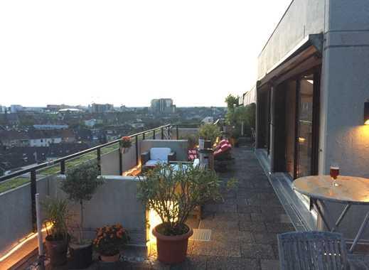 Penthouse mit 3 Zimmern - Kamin und großer Dachterrasse in Düsseldorf Derendorf