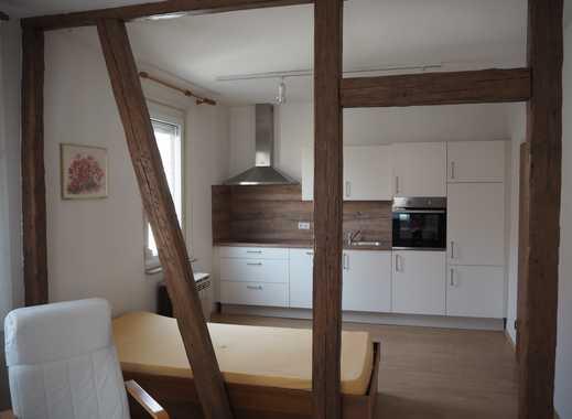 1-2-Zimmer-Wohnung teilmöbliert mit offenem Fachwerk mit neuer EBK