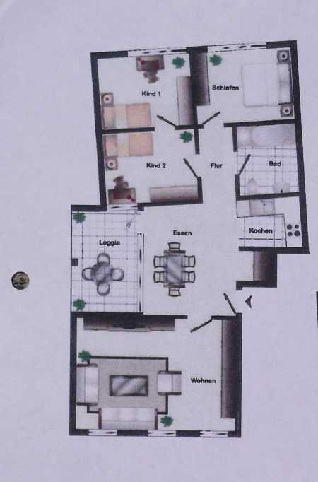 Großzügige 4,5-Zimmer-Wohnung mit Balkon und EBK in Herzogenaurach in Herzogenaurach