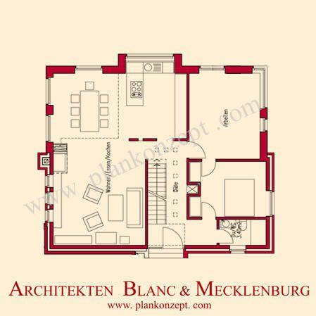 Grundriss einfamilienhaus modern gerade treppe  H A B E N s i e M U T ? ? ? Modernes Haus mit Galerie