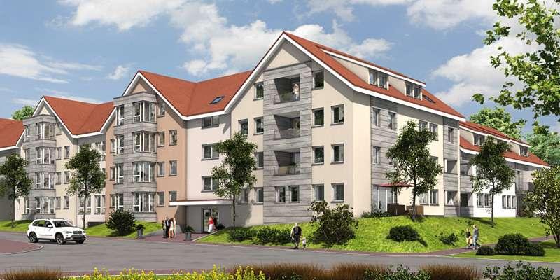 Erstbezug! 2 Zimmer Wohnung mit traumhafter Terrasse Richtung Süden, ruhige Lage