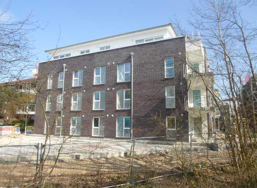 2-Zimmer-Penthouse-Neubau-Wohnung mit Tiefgarage, Fahrstuhl, großer Dachterrasse und Einbauküche