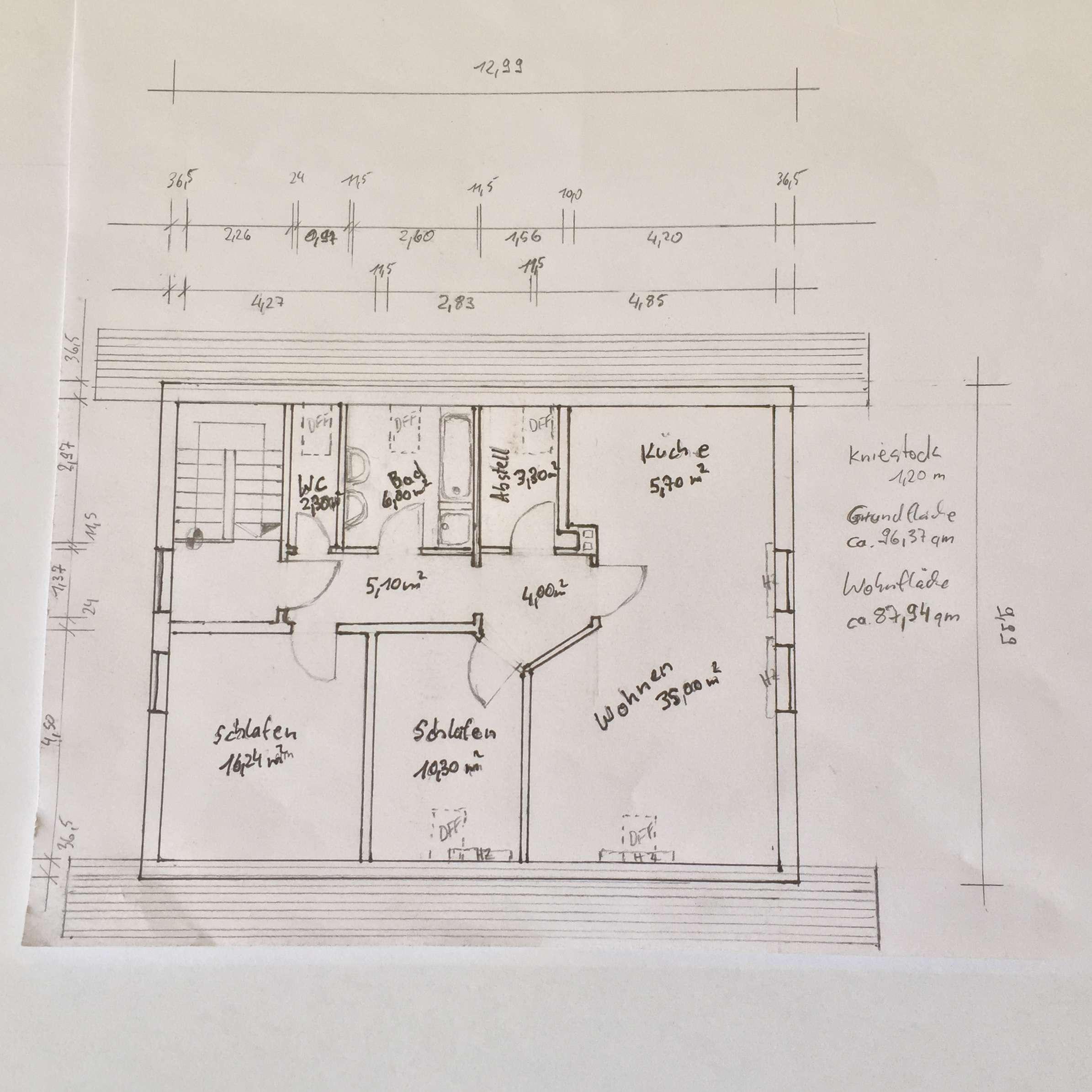 Ansprechende, vollständig renovierte 3-Zimmer-DG-Wohnung in Sielenbach in Sielenbach