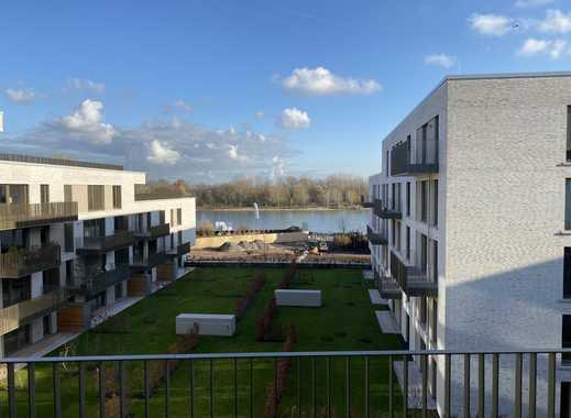 Erstbezug: stilvolle 4-Zimmer-Wohnung mit Einbauküche und Blick auf den Rhein
