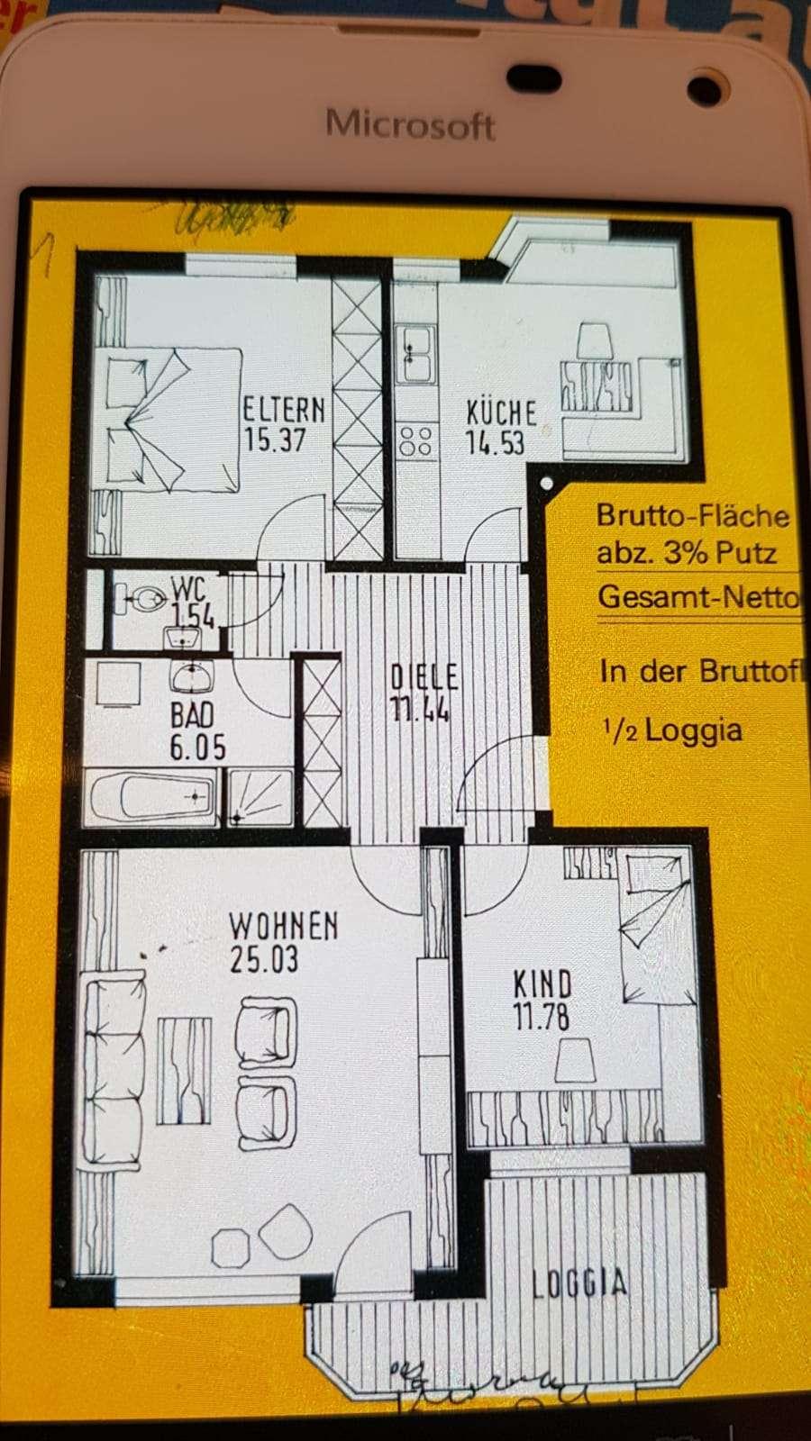 Renovierte 3-Zimmer-Wohnung mit Balkon und Einbauküche in Augsburg in Haunstetten (Augsburg)