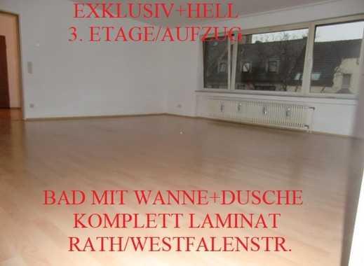 EXKLUSIV+HELL LAMINAT SANIERTES GROßES BAD (WANNE+DUSCHE) 3. OG/AUFZUG+G-WC RATH/WESTFALENSTR.
