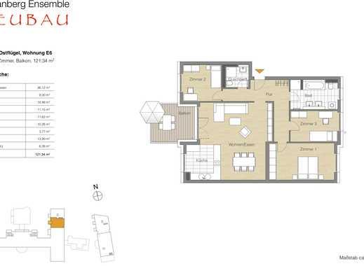 4 Zi.-Whg., Balkon, Lage im Neubau 3. OG