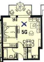 Bild Erstbezug nach Sanierung: gut geschnittene 2-Zimmer-Wohnung