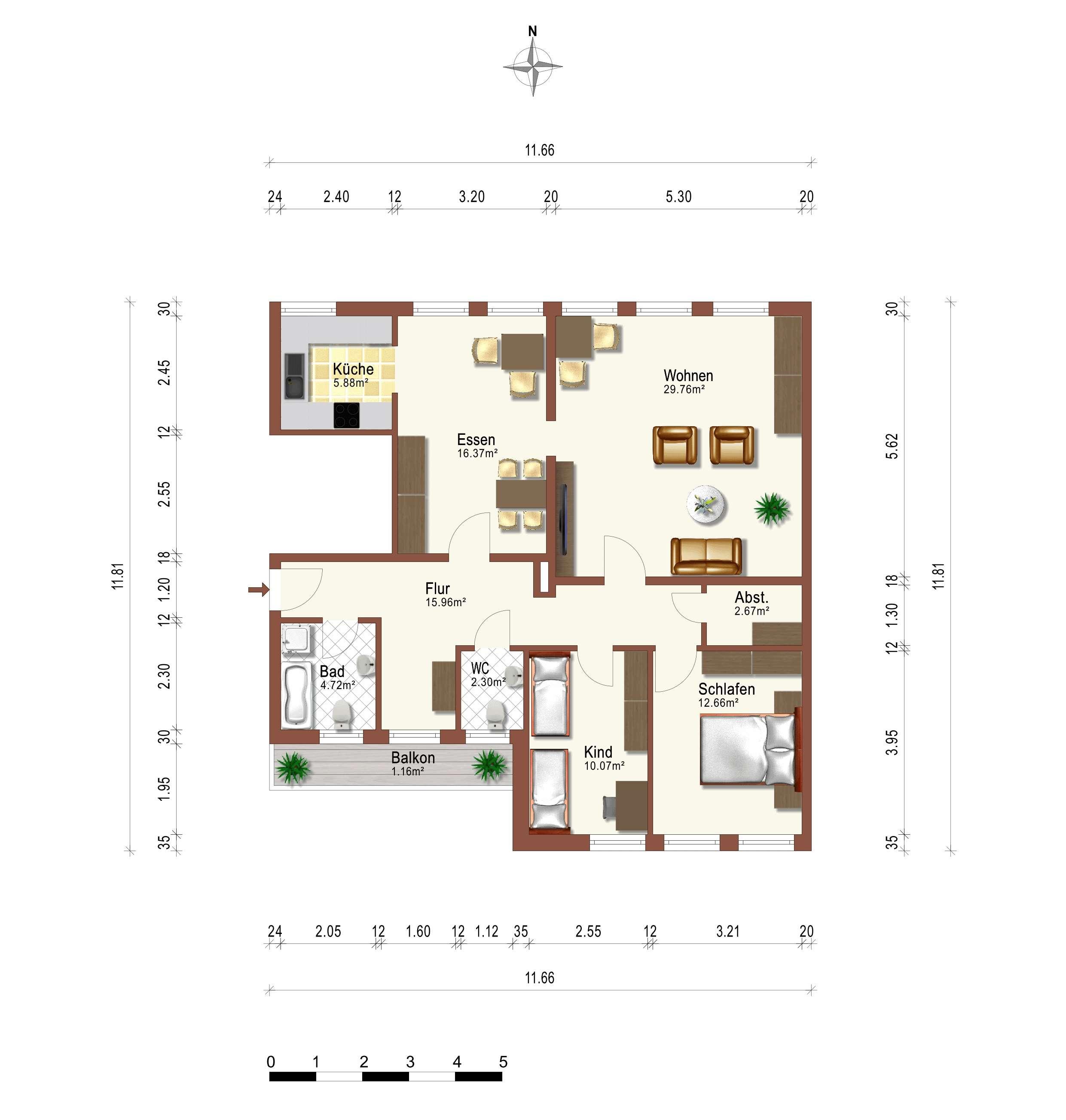 Sehr schöne Wohnung 4 Zimmer Wohnung in Tiefenbach (Cham)