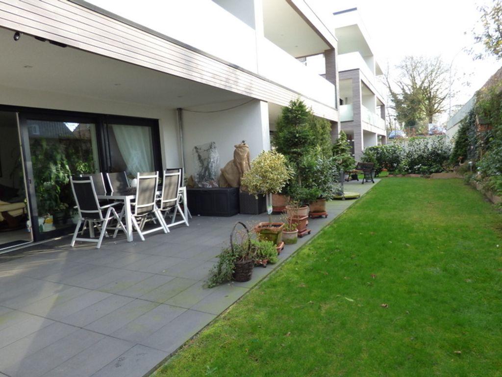 3 zimmer neubau erdgeschoss wohnung mit terrasse garten. Black Bedroom Furniture Sets. Home Design Ideas
