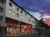Großzügige Gastronomieflächen auf Solingens Fußgängerzone