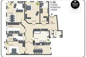 6 Zimmer Wohnung in Halle (Saale)
