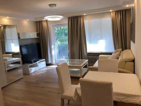 Exklusive, geräumige, vollmöblierte und neuwertige 1-Zimmer-Wohnung mit Balkon und EBK in Nürnberg in Hummelstein (Nürnberg)