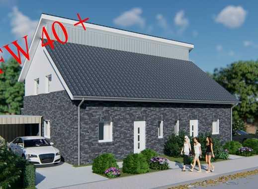 Hochw. Doppelhaushälfte  KFW 40+ mit Carport und Geräteraum