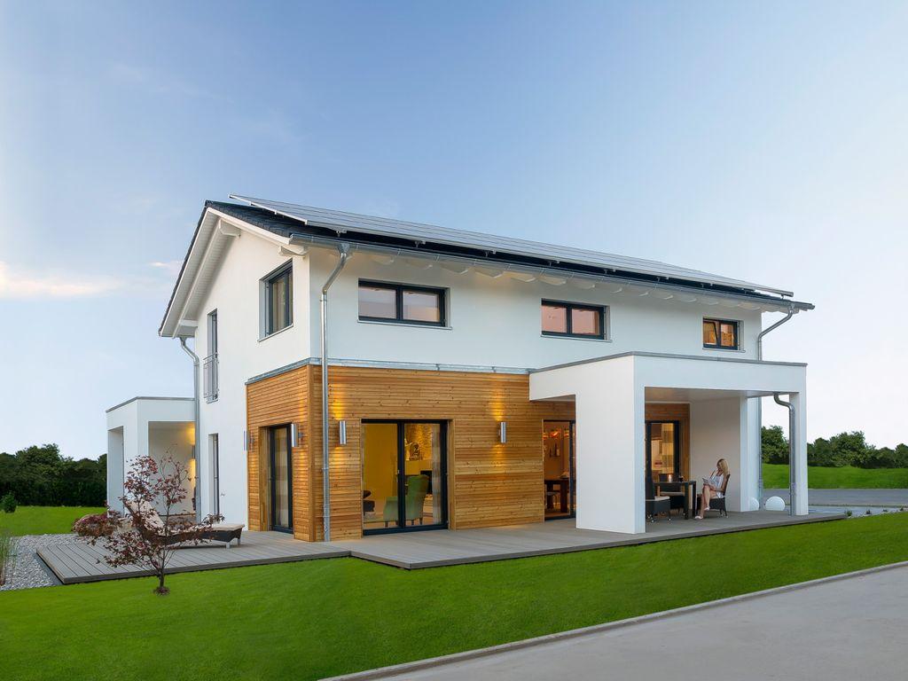 Komfortables Plus-Energie-Haus (Haas Musterhaus Mannheim J 159)