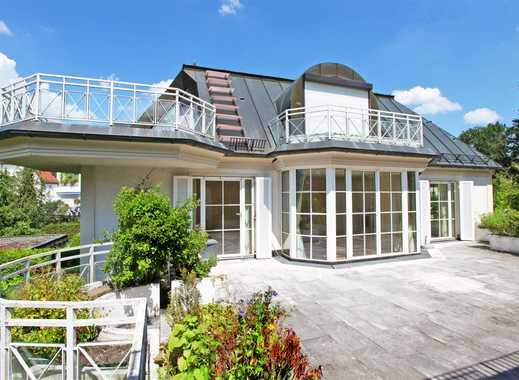 HEINRICH v. KÖLICHEN: 6-Zi-Maisonette + Studio + 2 Dachterrassen am Engl. Garten - Luxus auf 320 m²!