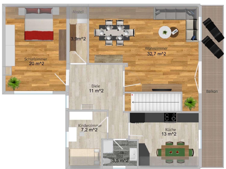 Ansprechende 3,5-Zimmer-DG-Wohnung mit großen Balkon in Seestetten/Sandbach in Vilshofen an der Donau