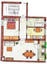 Neuwertige 2-Zimmer-Wohnung mit Balkon in