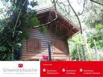 Freizeitgrundstück mit kleinem Holzhaus - Erholung