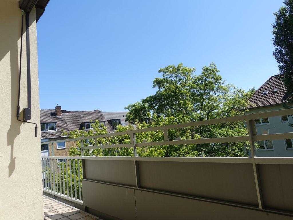Die Aussicht vom Balkon...