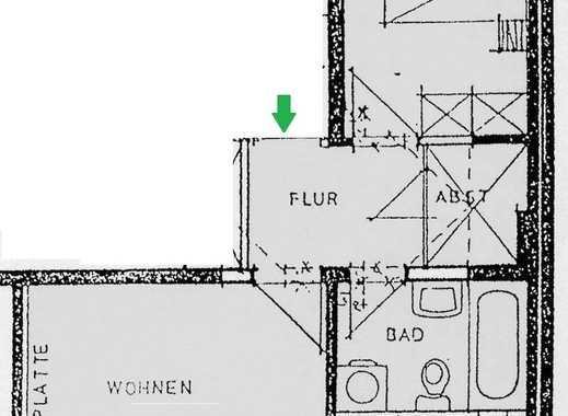 **klein und günstig - 2-Raum Wohnung mit Stellplatz**