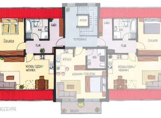 Moderne 2-Zimmer-Wohnung im DG mit Balkon