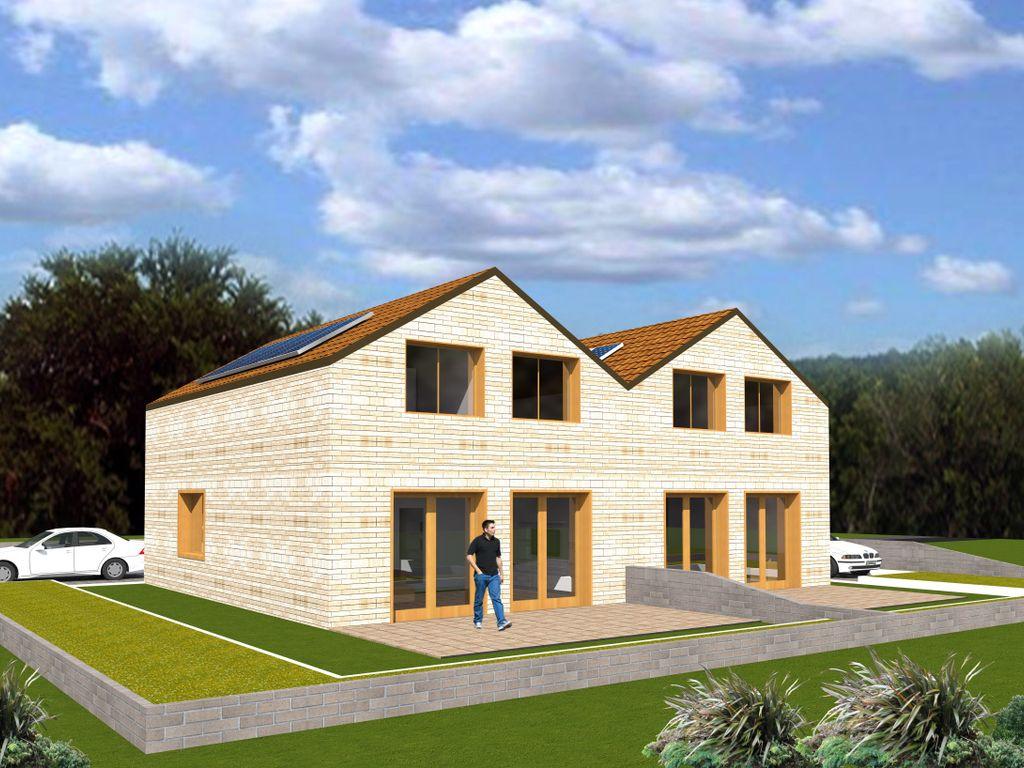 neubau hinterbebauung doppelhaush lfte mit teilkeller und klinker. Black Bedroom Furniture Sets. Home Design Ideas