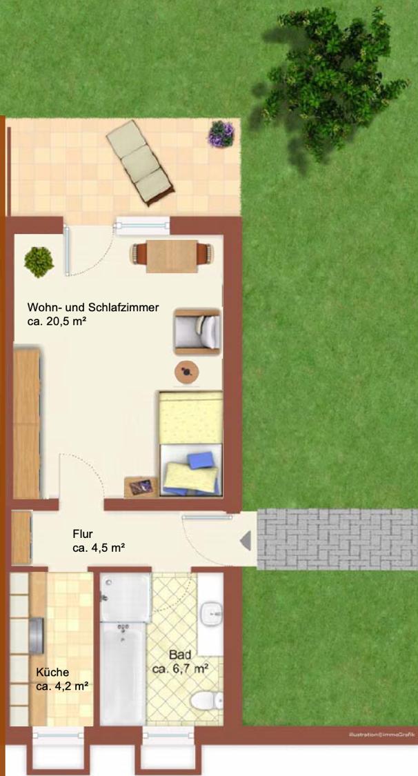 Schöne, geräumige ein Zimmer Wohnung in Ebersberg (Kreis), Ebersberg in