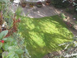 Ausblick in den schönen Garten