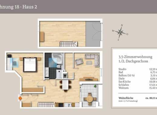 3,5.-Zi.-Maisonettewohnung ideal geschnitten...