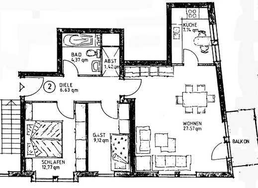 Sanierte 3-Zimmer-Hochparterre-Wohnung mit Balkon und Einbauküche in Mettmann (Kreis)