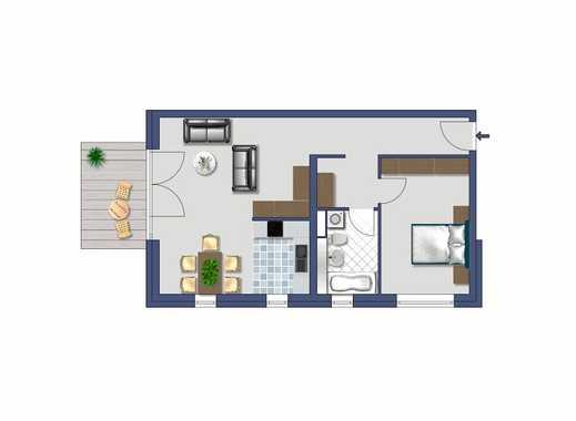 Schön geschnittene 2-Zimmerwohnung mit EBK und Balkon