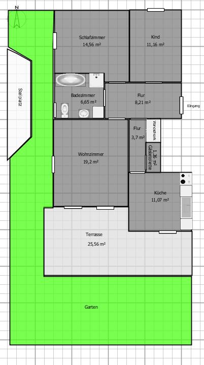 Ruhig gelegene 3 Zimmer EG Wohnung mit kleinem Garten in