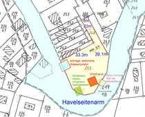 Wassergrundstück, ¾ mit Havelseitenarm