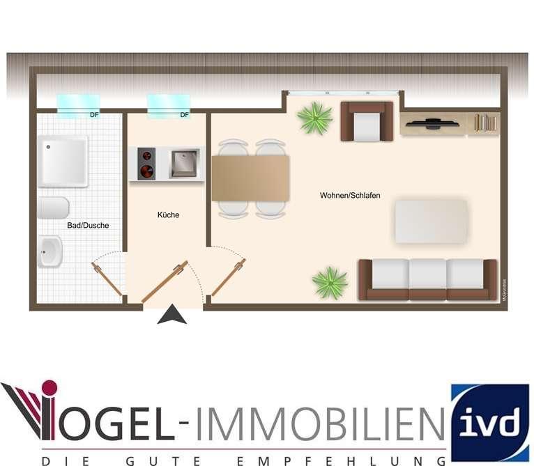 • • • Helle Wohnung - Stadtmitte - Dachgeschoss - Fahrstuhl • • •