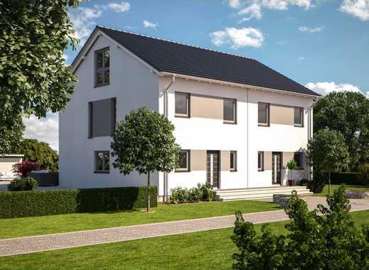 2 Neubau Doppelhaushälften in guter Nachbarschaft mit großem Grundstück