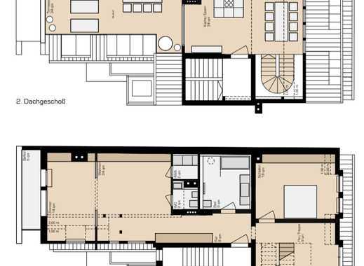 Exklusive, 4,5-Zimmer-Maisonettewohnung mit großer Dachterrasse und Einbauwohnküche in Nürnberg