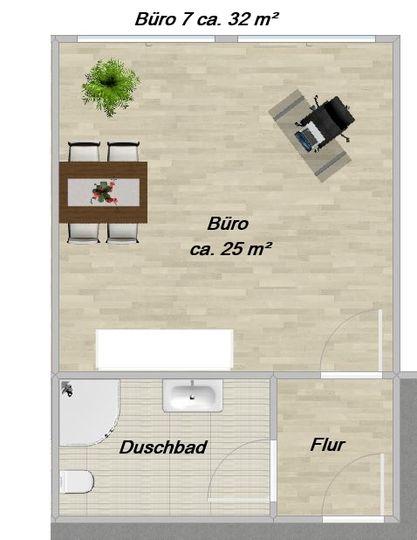 O 7 ca. 32 m²