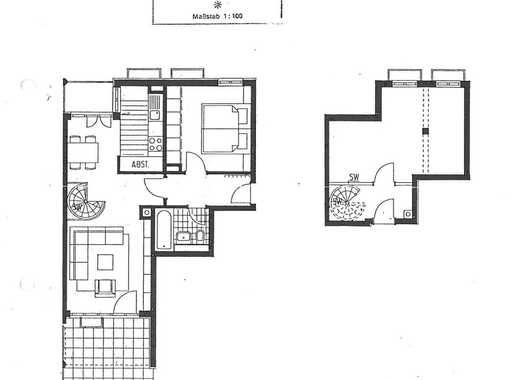 2er WG: Nachfolge: Möbil. seperate Whg. mit eig. Bad und Eingang, gemein. Küche, 8min zur S2,an Stud