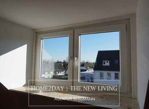 [HOME2DAY] FEIERABEND! Ihre schöne 52,5 m² große helle DG Wohnung mit WANNENBAD und grünem Ausblick