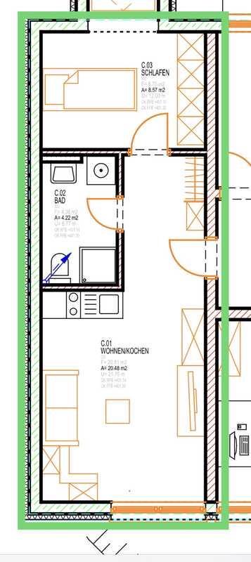 2 Zimmer Single Wohnung in ruhiger Lage in Heilsbronn